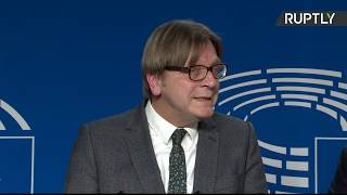 LIVE: Antonio Tajani and Guy Verhofstadt hold press conference after meeting Theresa May