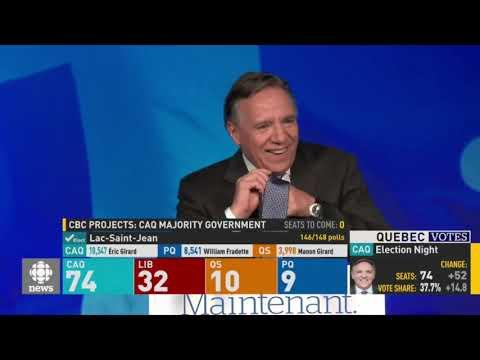 Victory speech by Quebec Premier Designate François Legault - 01 Oct 2018