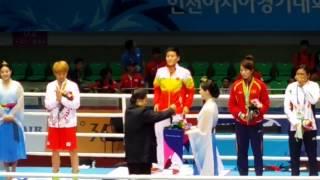 Sarita Devi refuses the Bronze medal:  Asian Games 2014
