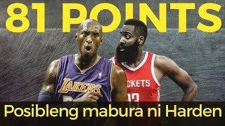 Bakit POSIBLENG MABURA ni James Harden ang 81-POINT record ni Kobe Bryant?