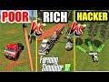 Farming Simulator 17 | POOR vs RICH vs HACKER - Tree Job 🌲🌲🌲