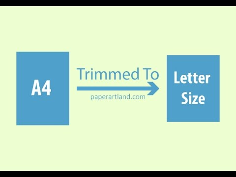 PAPER AIRPLANE TIPS - How To Trim An A4 To A U.S Letter Size Paper ( Approx Ratio )