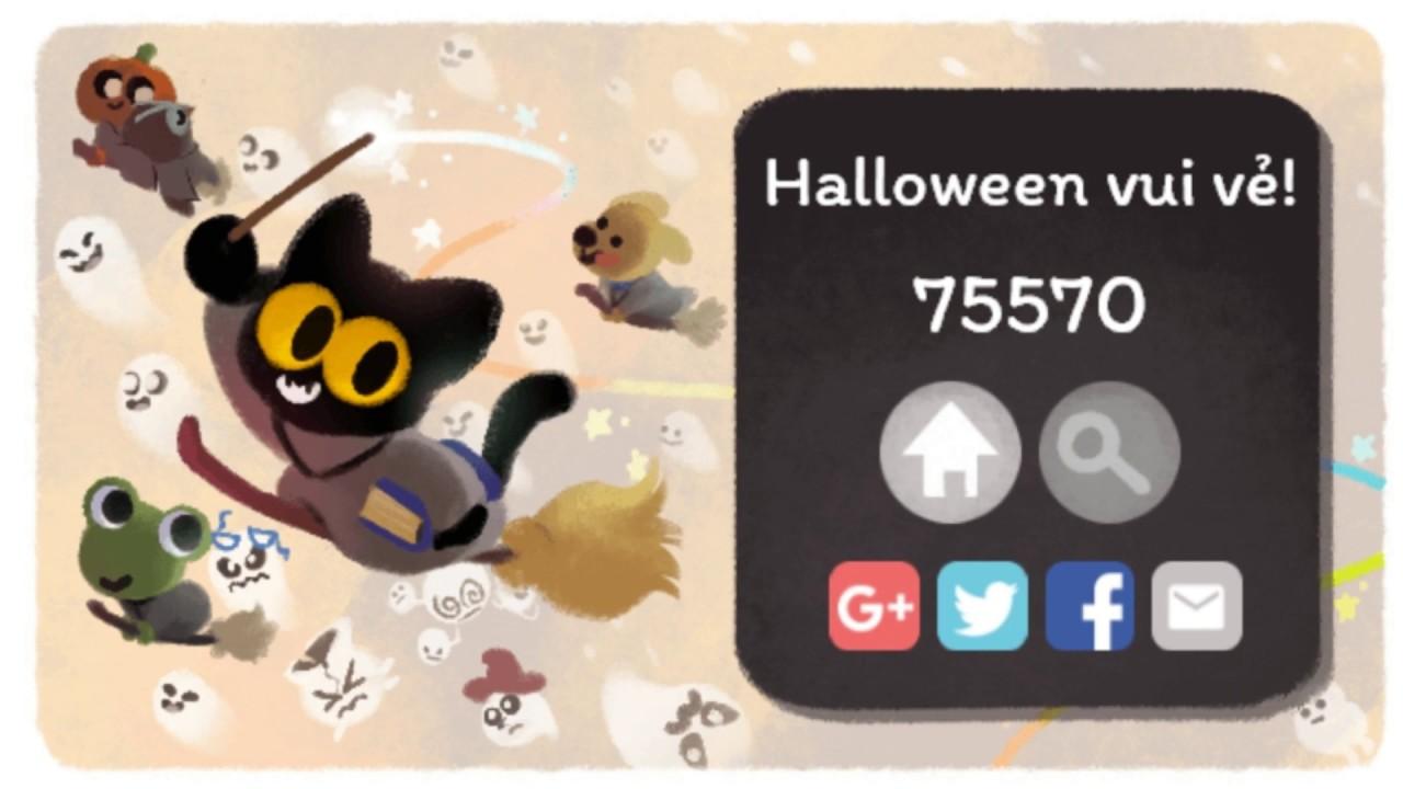 Google Doodle Magic Cat Academy Happy Halloween 30 10