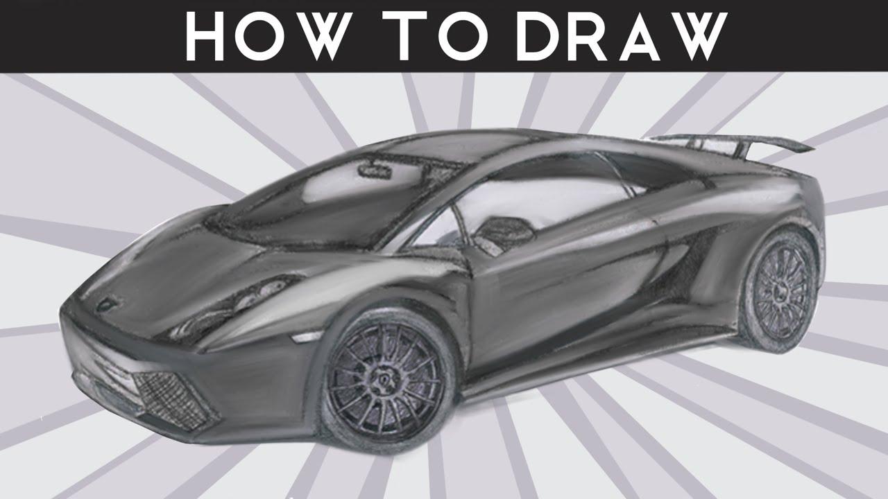how to draw a lamborghini gallardo superleggera step by step drawingpat
