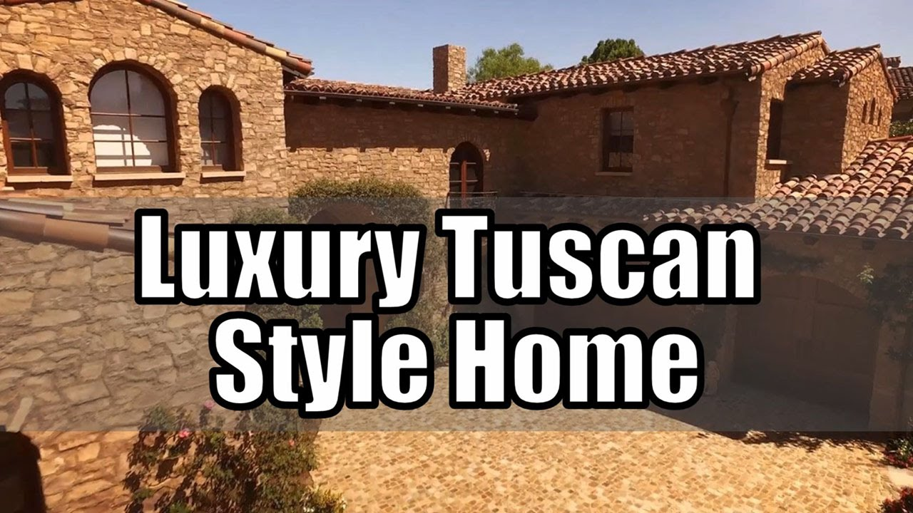 Luxury Tuscan Style House (Beautiful Interior U0026 Decor)   YouTube