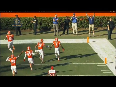 Florida's Game Winning Punt Block vs Louisiana Lafayette