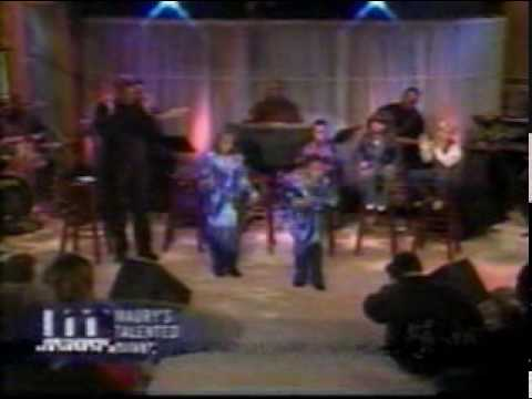 Holy Ghost music takes over secular show.. Kids singing old time Black Gospel