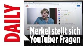 Merkel stellt sich den Bundestagswahl-Fragen der YouTube Stars - BILD Daily live 16.08.17