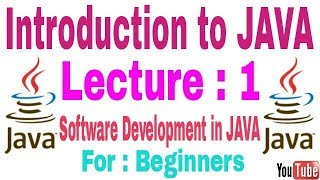 Introduction to Java Lecture 1