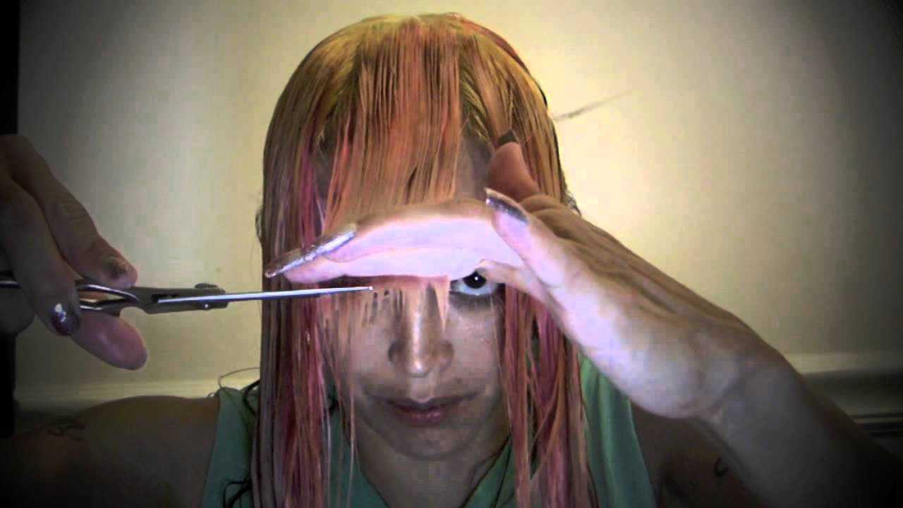 How To Cut Your Own Hair At Home Into A Quot V Quot Shape Youtube