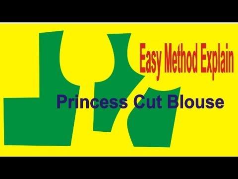 how to make princess cut blouse pattern   blouse making   easy method