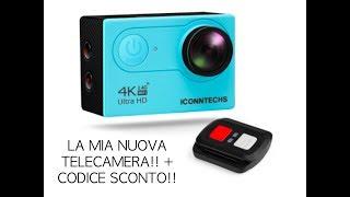 La mia nuova telecamera,  ICONNTECHS IT Sport Action Camera 4K Ultra HD
