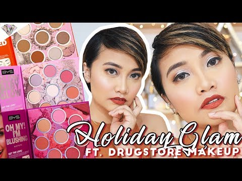 php-599-face-palettes-ng-bys?!-|-easy-holiday-makeup-look-using-drugstore-makeup-|-mae-layug