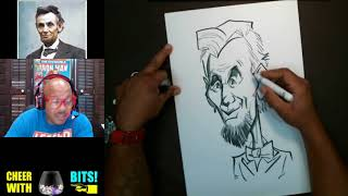 How To Draw Caricature Abraham Lincoln