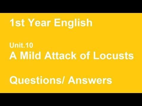 a mild attack of locusts