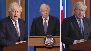 video: Watch: Boris Johnson's mixed messages over Freedom Day on July 19