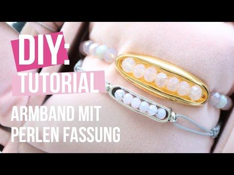 Schmuck machen: Frühjahrsarmband mit Fassung für Perlen aus DQ Metall ♡ DIY