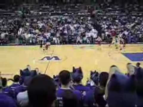 UW basketball. 2003-2004 season. Home upset over Stanford..