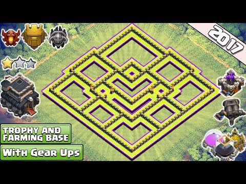 NEW!! Clash Of Clans Town Hall 9 (TH9) Trophy & Farming Base 2017 ♦ TH9 Base Anti Everything 2017