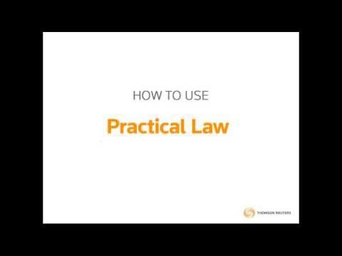 Practical Law Training Webinar