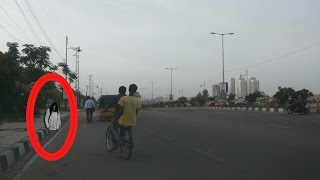 Real Ghost Caught On Tape Afternoon at Hitech City Hyderabad, Hitech City to JNTU Road