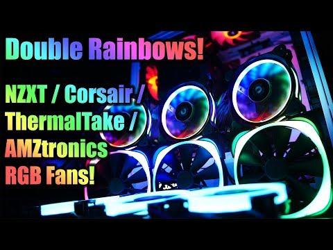 NZXT vs Corsair vs TT vs AMZtronics RGB Fans!