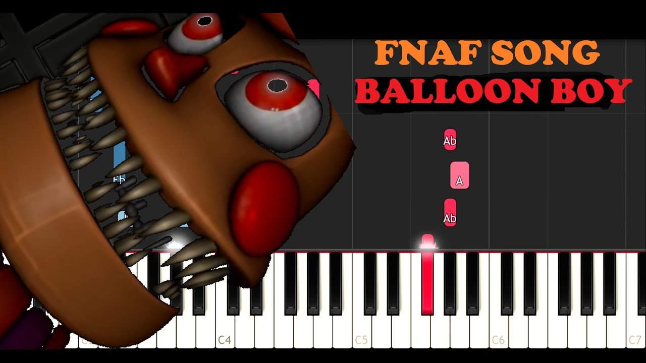 FNAF SONG - Balloon Boy - Ding Dong Hide And Seek (Piano Tutorial)