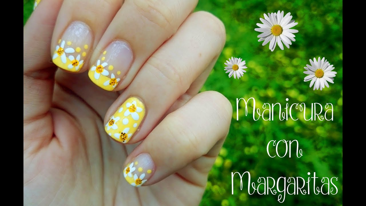 Manicura con Margaritas 🌻 - YouTube