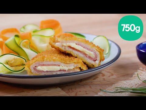 recette-des-escalopes-cordon-bleu-de-poulet,-tagliatelles-de-carottes-et-courgettes---750g