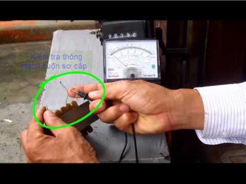 Dùng vạn năng kế đo cuộn dây máy biến áp
