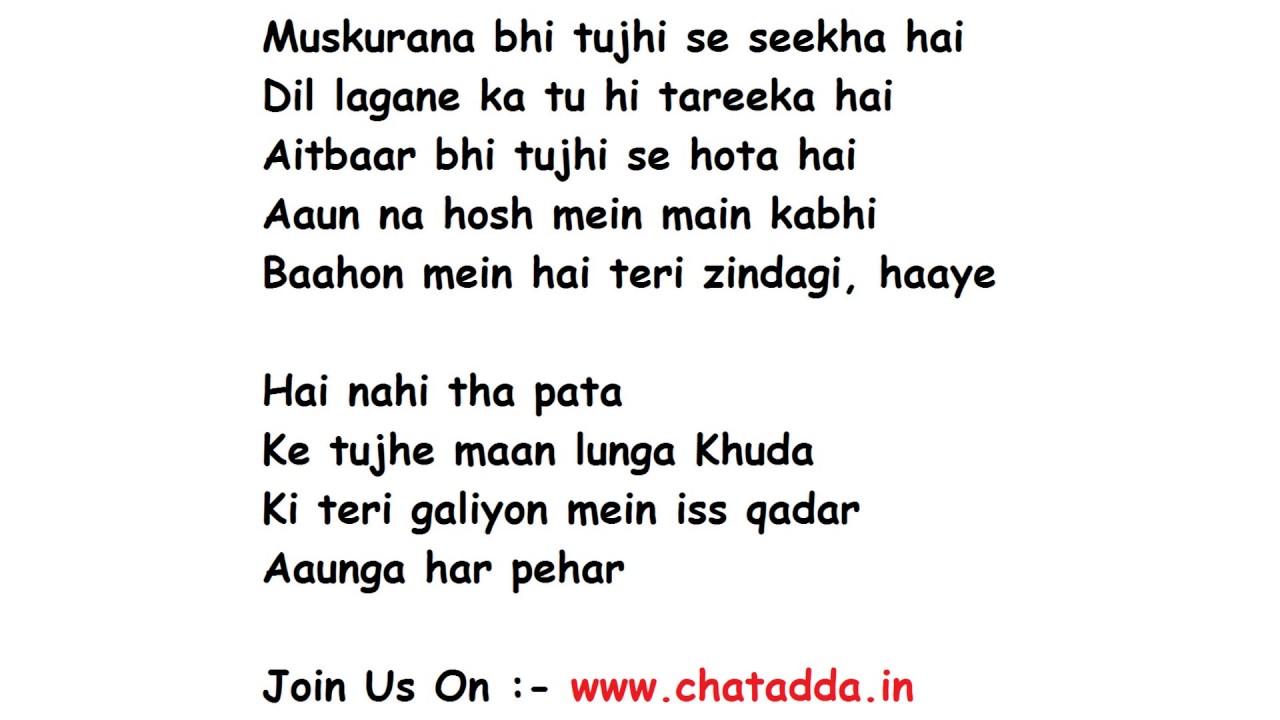lyrics song humsafar ki badrinath dulhania
