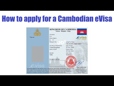 How To Get A Visa To Cambodia Online