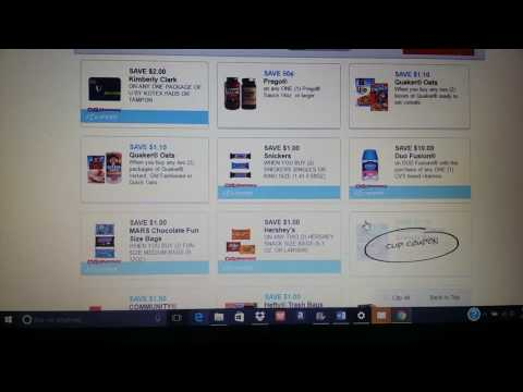 Printing Coupons from CVS.COM | How to print CVS store coupons