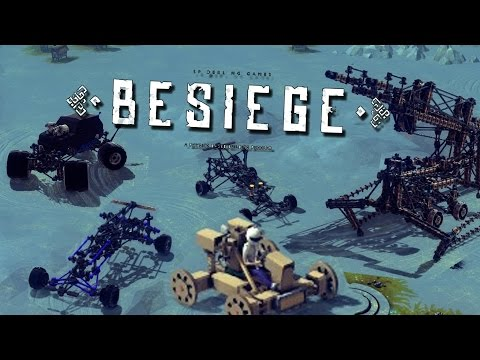 Besiege My Best creations | Slingshot Polaris, Mobile Crane, and Off road Vehicles
