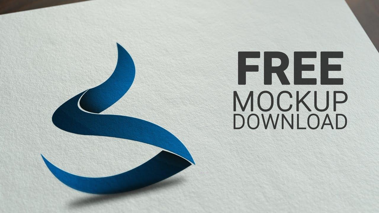Logo design psd mockup download free mockup download link