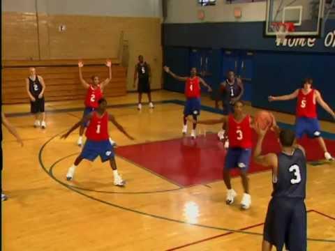 Morgan Wootten basketball--1-2-2 zone offense