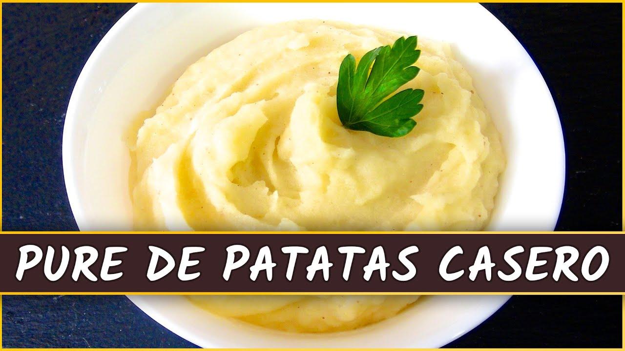 Receta del pur de patatas casero youtube - Pure de patatas y calabaza ...