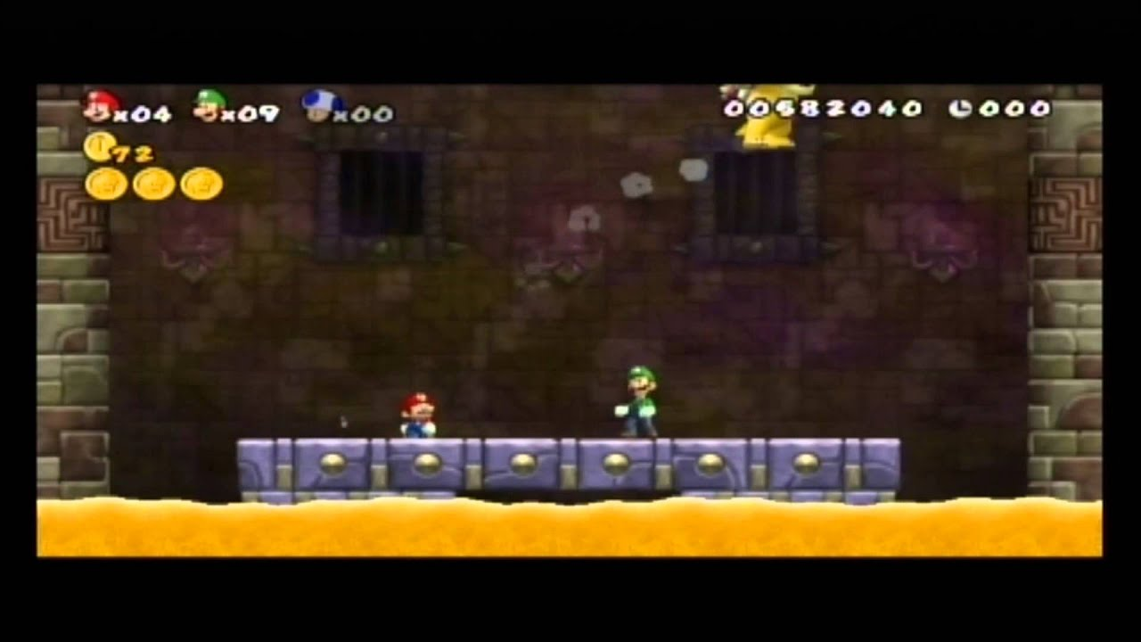 New Super Mario Bros Wii GAME OVER - YouTube