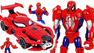 Spider-man Web-car launcher and Mech suit armor! Go! | DuDuPopTOY