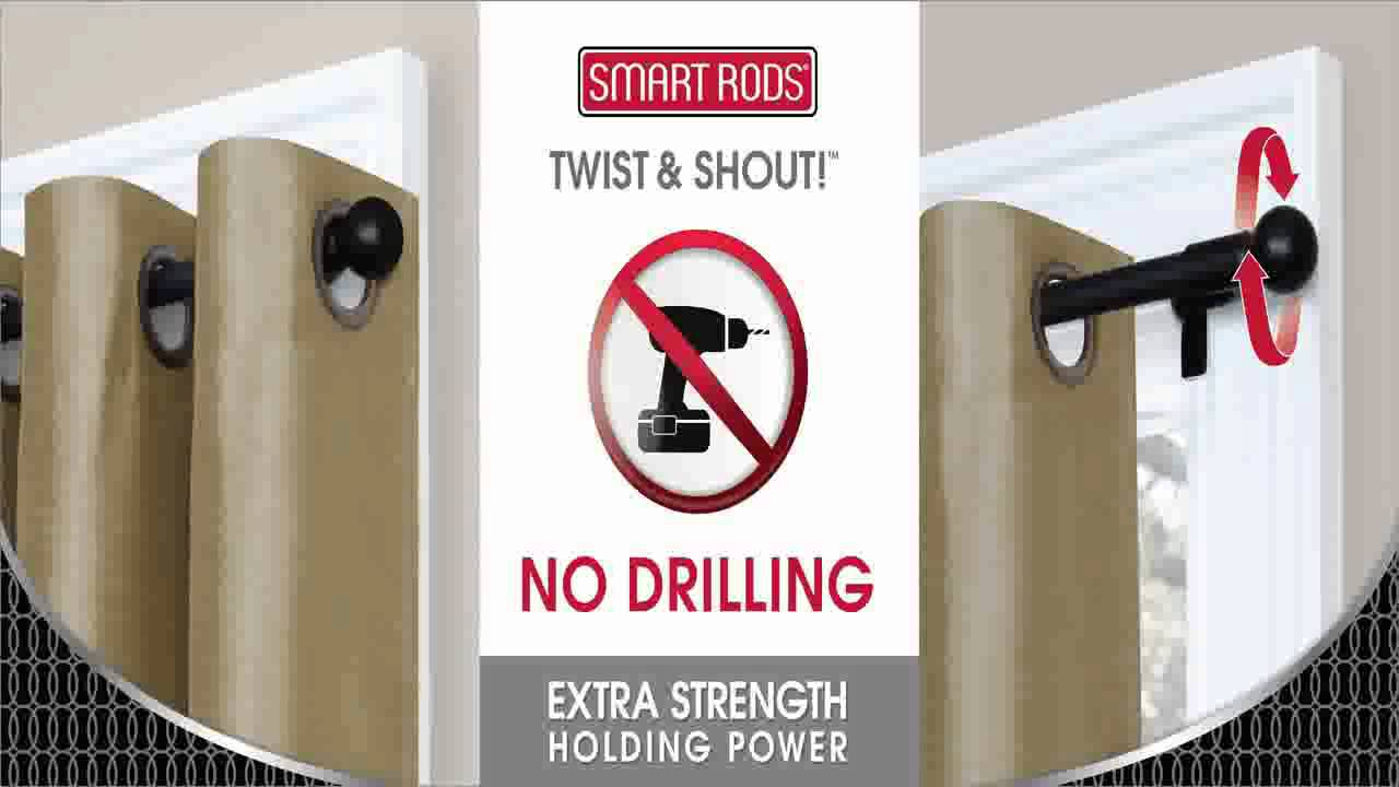 Maytex Twist And Shout Smart Window Hardware Rod 28 48 Inch Oil Rubbed Bron