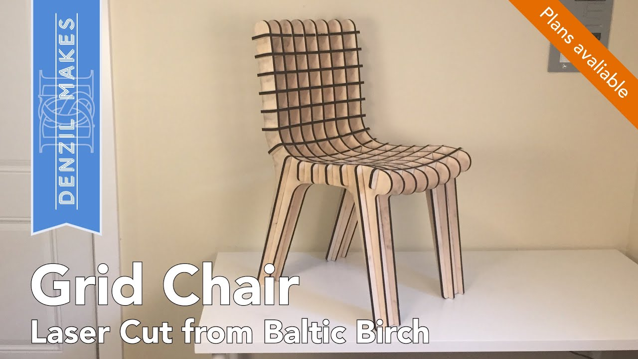 Laser Cut Plywood Grid Chair For The Rockler Plywood