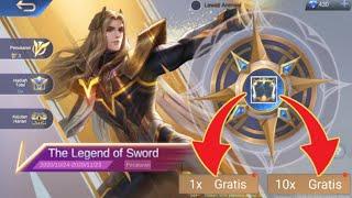 CARA MENDAPATKAN SKIN HERO LANCELOT DI EVENT THE LEGEND OF SWORD GRATIS..!!!