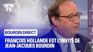 François Hollande face à Jean-Jacques Bourdin en direct