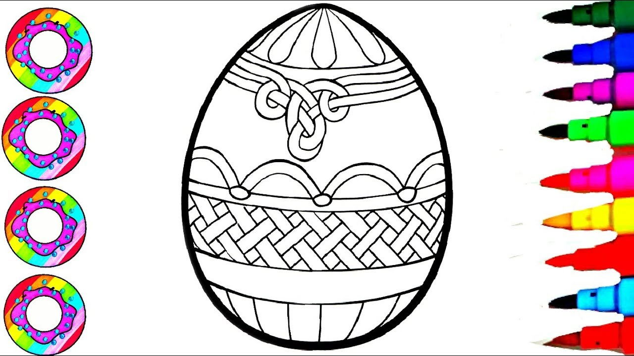 Colouring Giant Easter Egg Coloring Pages for Kids l How to Color Drawing l Disney Brilliant