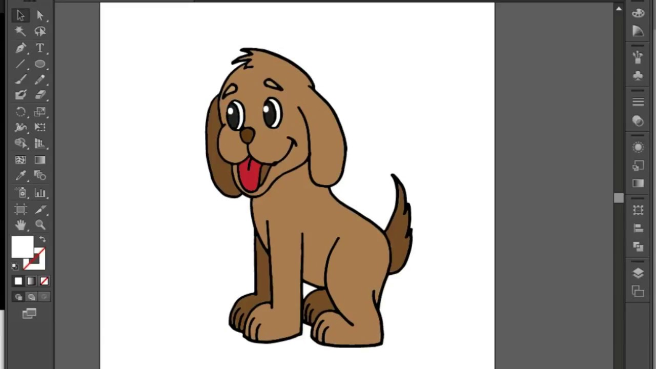 How to draw a dog easy and coloring in adobe illustrator as vector how to draw a dog easy and coloring in adobe illustrator as vector ccuart Images