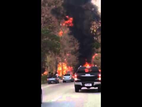 รถบรรทุกน้ำมัน ระเบิด ถนนสายเชียงใหม่ -ลำปาง 4 มีค 57