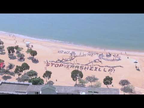 Trashzilla Spotted on Hong Kong Beach - Kids Ocean Day 2016