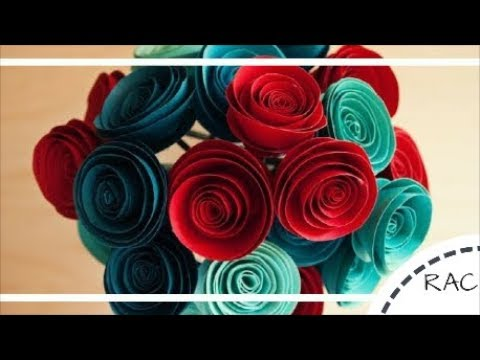 HOW TO MAKE PAPER FLOWER BOUQUET | WEDDING BOUQUET STYLES| RECYCLED ARTS AND CRAFTS-45