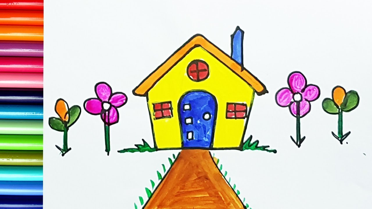House Drawing Colour