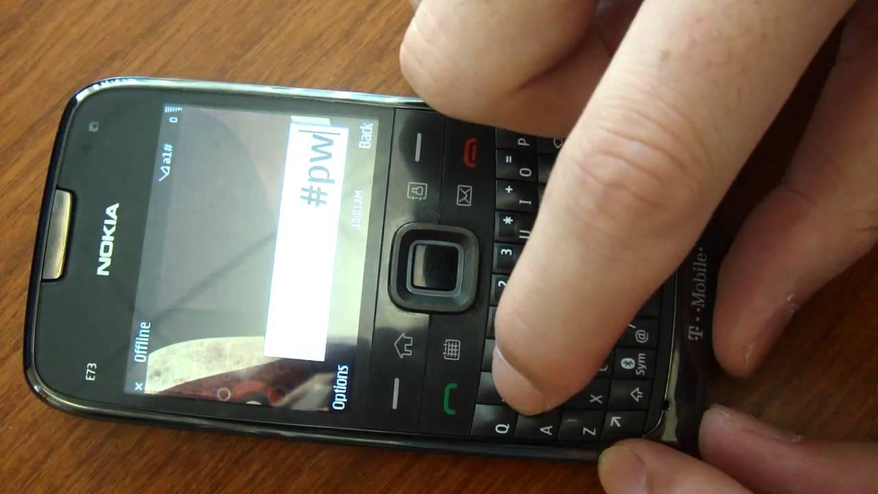 How to unlock Nokia E73